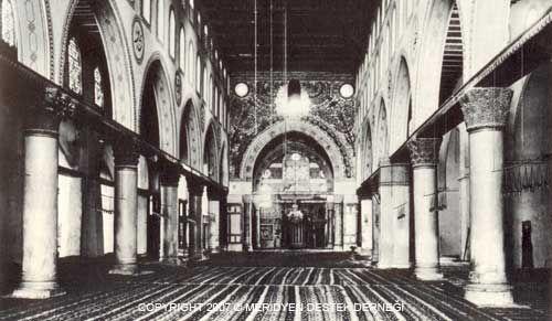 Мечеть аль-Акса, вид с интерьера