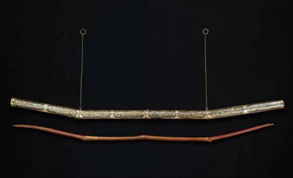Стрела Пророка Мухаммада и серебрянный футляр